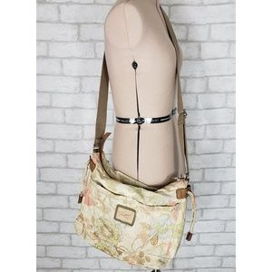 Fossil 1954 Floral Canvas & Leather Crossbody Bag